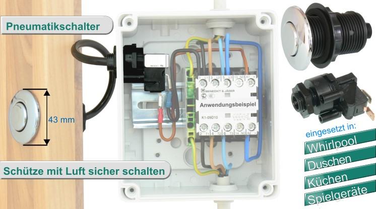 pneumatikschalter gegenstromanlage Pneumatiktaster