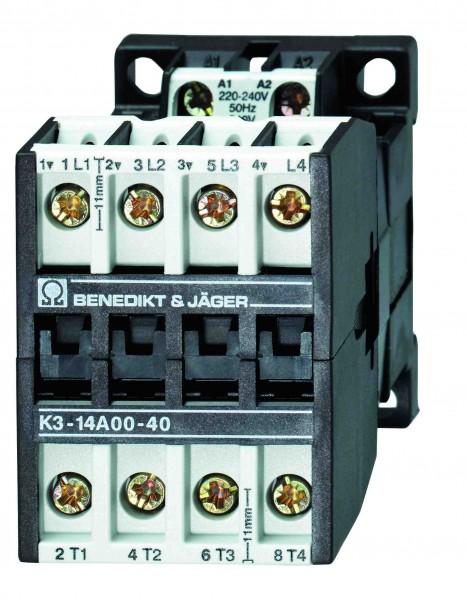 K3-14A00-40 17,5kW  25A  5,5kw 4poliges Schütz
