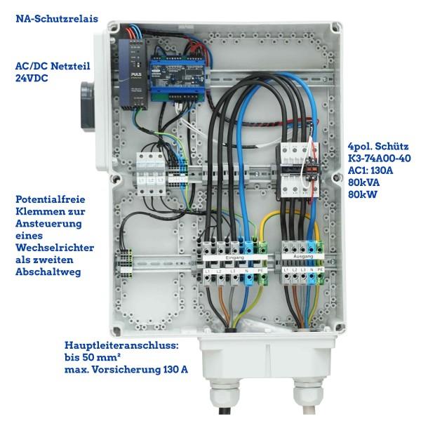 NA-Schutz 80 kW 80 kVA 130 A mit 1 Schütze