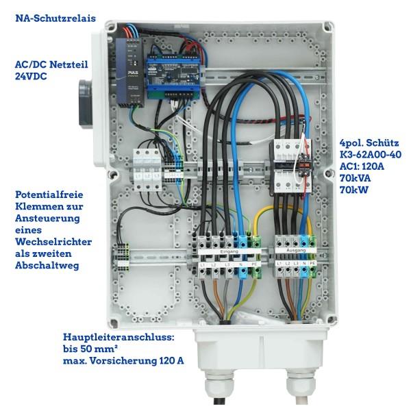 NA-Schutz 70 kW 70 kVA 120 A mit 1 Schütze