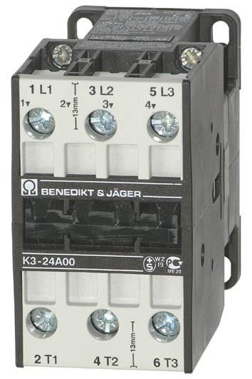 Leistungsschütz K3-24A00 schaltet 11 kW / 50A