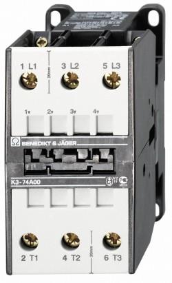 Leistungsschütz K3-74A00 schaltet 37 kW / 130A
