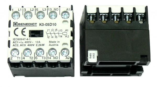 Mikro-Leistungsschütze K0-05D seitlich