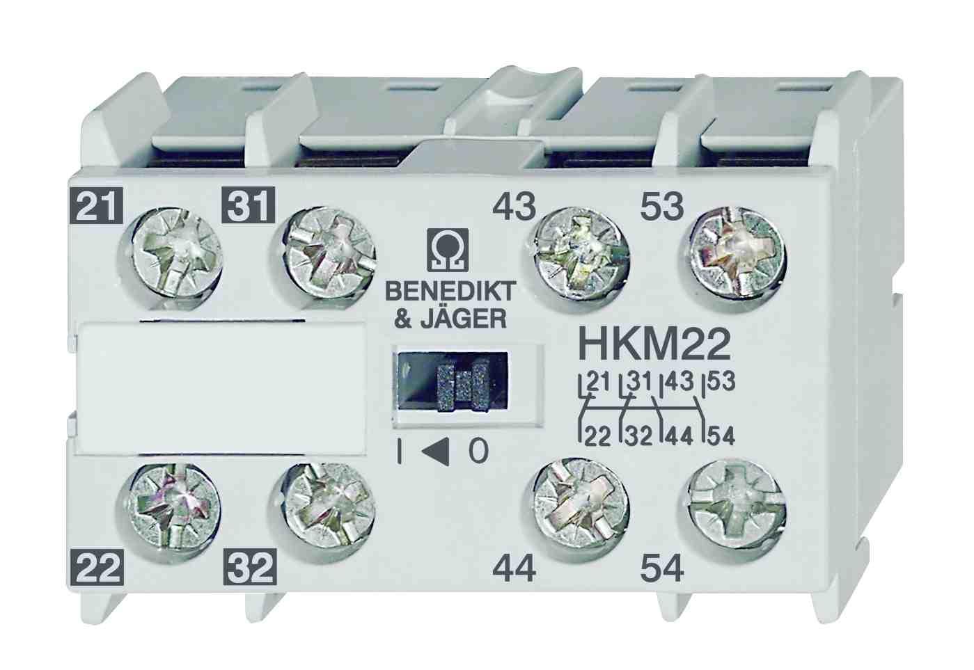 NEW Hilfskontaktblock BENEDIKT/&JÄGER HKM22
