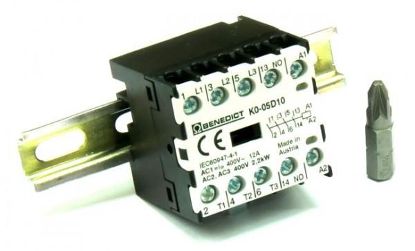 Mikro-Hilfschütz auf Hutschiene TS15