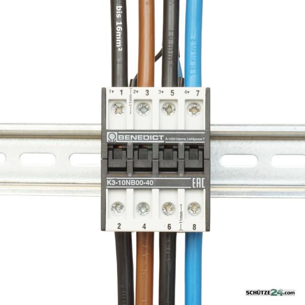 K3-10NB00-40 4polig L1 L2 L3 N  bis 16mm² Anschlussquerschnitt