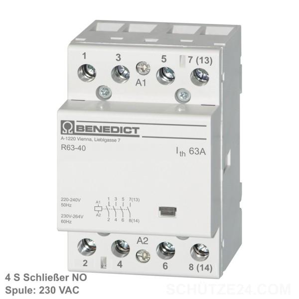 Installationsschütze R63-40 230  4S  Instaschütz