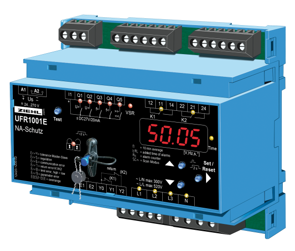 UFR1001e NA-Schutzrelais mit 4polige Leistungsschütze