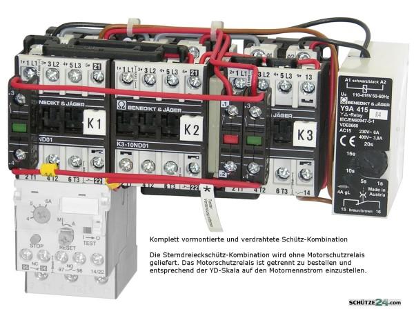 K3NY15 Sterndreieckkombination anschlussfertig verdrahtet ab Werk