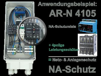4polige Schütz als Netzschuetze für NA-Schutz UFR1001e
