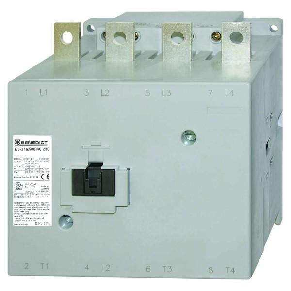 K3-316A00-40 346kw 500A 4poliges Leistungschütz