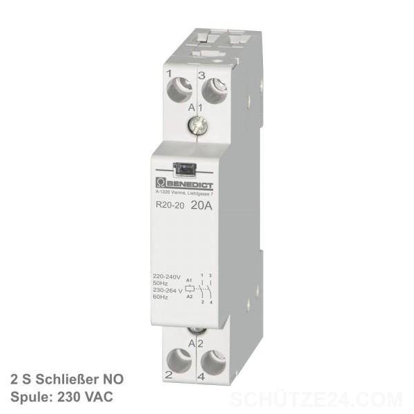 Installationsschütze R20-20 230v