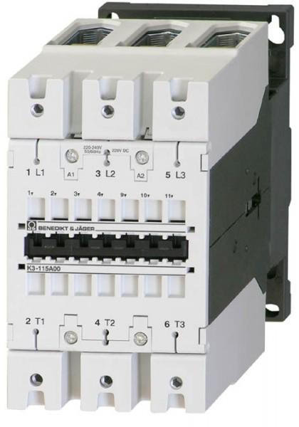 Leistungsschütz K3-115A00 schaltet 55 kW / 200A