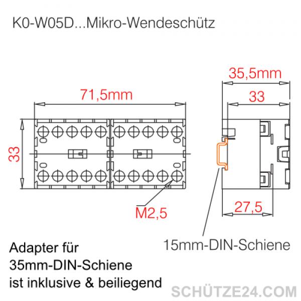 Mikro-Wendeschütze K0W05D00   Schütze24