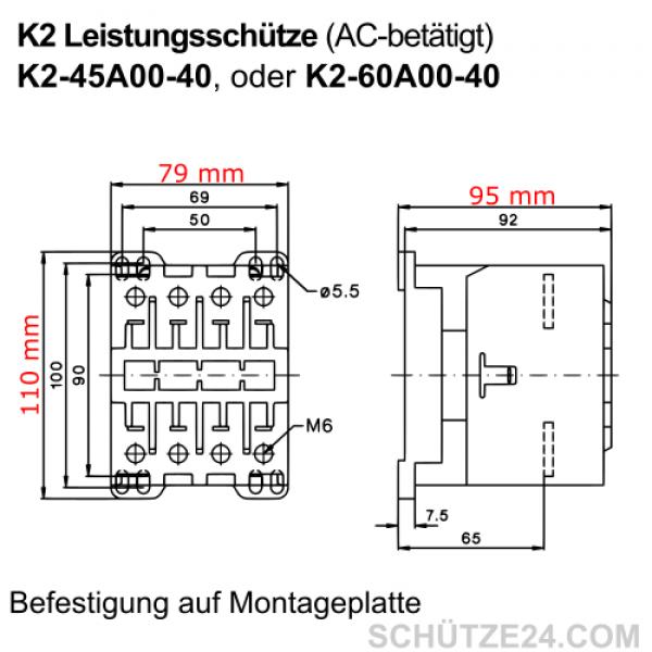 Leistungsschütze K2-45A00-40 | Schütze24