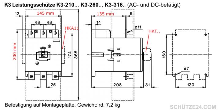 Leistungsschütze K3-210A00 | Schütze24